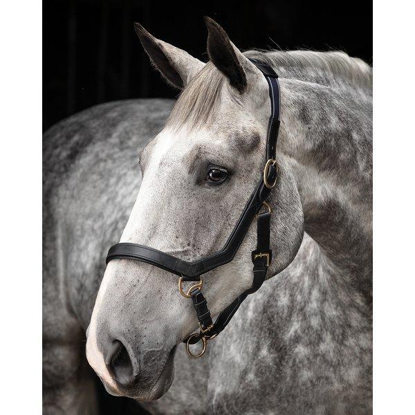 Horseware Lederhalfter RAMBO Micklem Headcollar schwarz | Warmblut