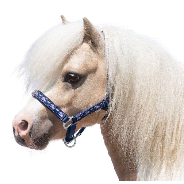 Horse-friends Halfter Piccolino Motiv navy unicorn | Pony