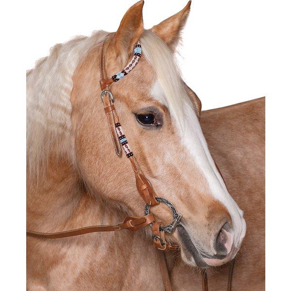 L-pro West Einohr-Westerntrense mit bunten Perlen