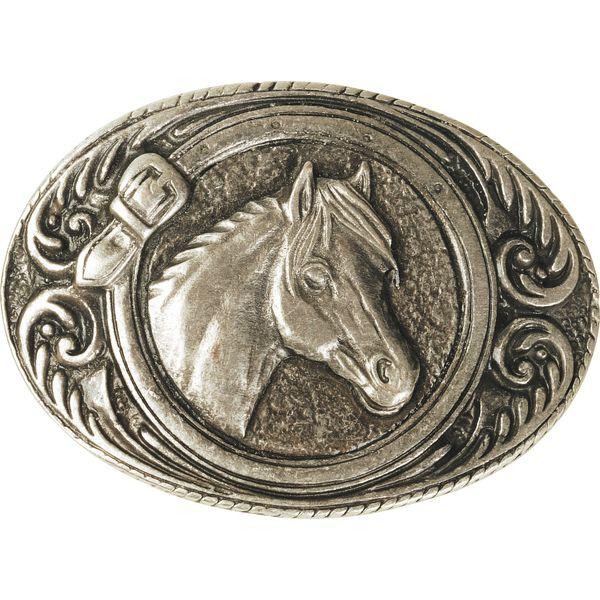 L-pro West Gürtelschnalle Pferdekopf