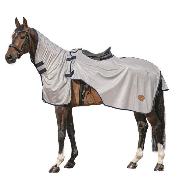 Horse-friends Ausreitdecke silber/navy | M (135/145 cm)