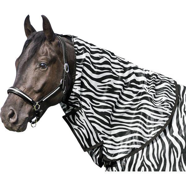Horse-friends Halsteil zur Fliegendecke mit Zebra-Muster