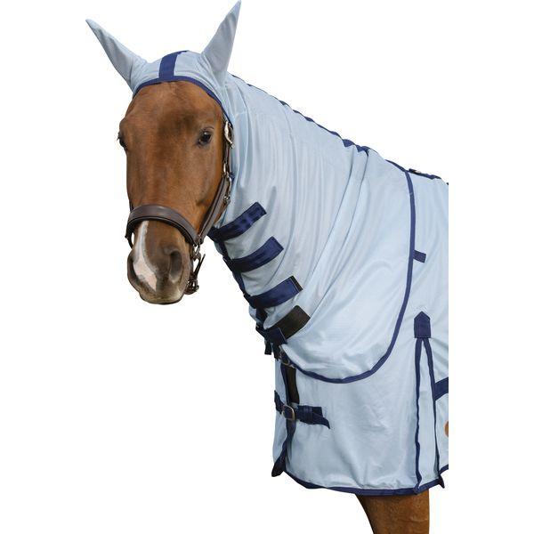 Horse-friends Halsteil Fliegendecke New Brasilia eisblau | S