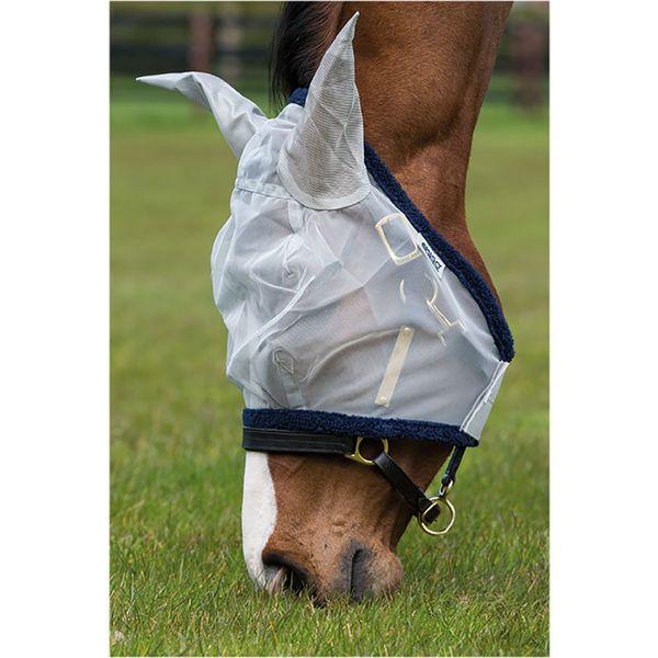Horseware Fliegenmaske AMIGO Finemesh Flymask silver/navy | PONY