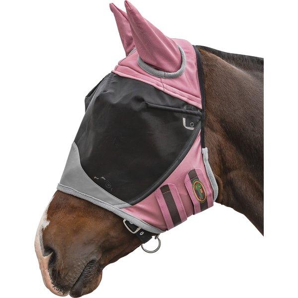 IRISh INNOVATION Fliegenmaske Deluxe l, mit Ohrenschutz rosé | Shetty