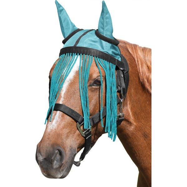 IRISh INNOVATION Fliegenhaube mit Fransenstirnband aqua | Pony