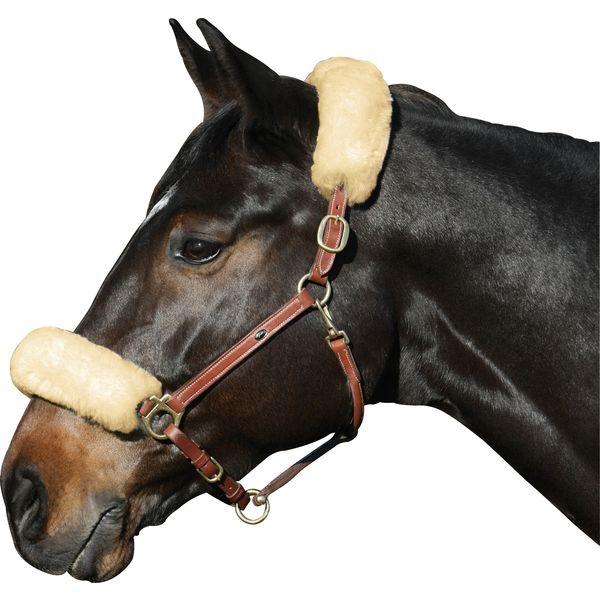 Loesdau Echt-Lammfell-Nasen- oder Genickschutz
