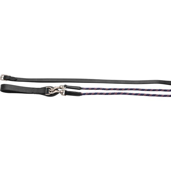 Lederschlaufzügel mit PP-Seil schwarz | WB