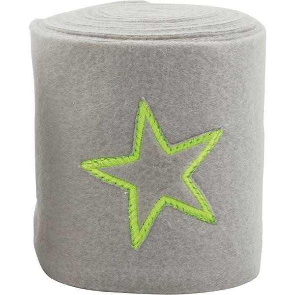 Fleecebandagen Neon Star grau/gelb | Warmblut