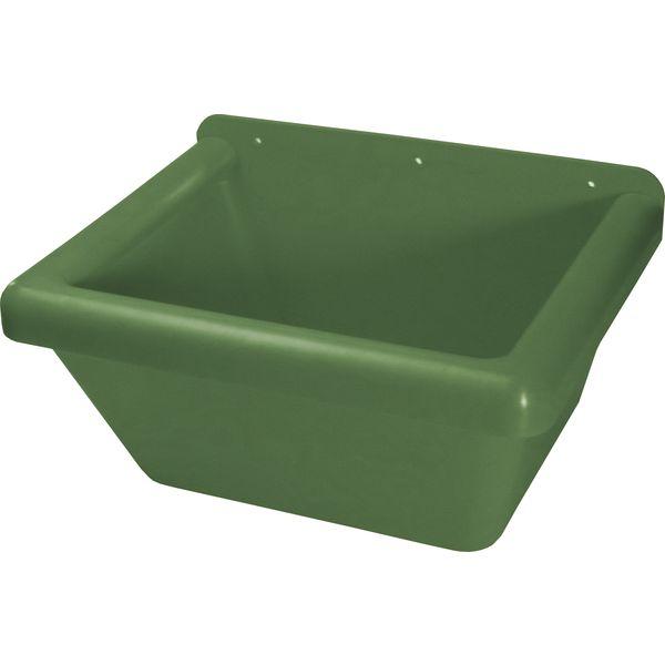 KERBL Rechteck-Futtertrog grün