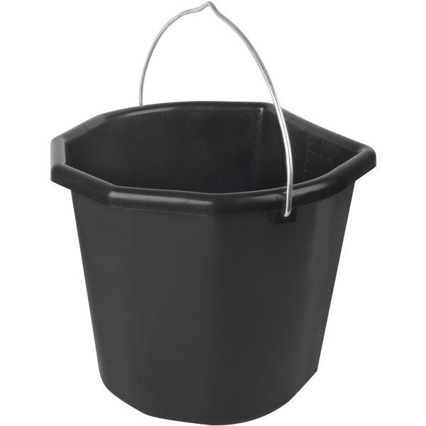 WALDHAUSEN Futter- und Tränkeeimer schwarz   20 Liter