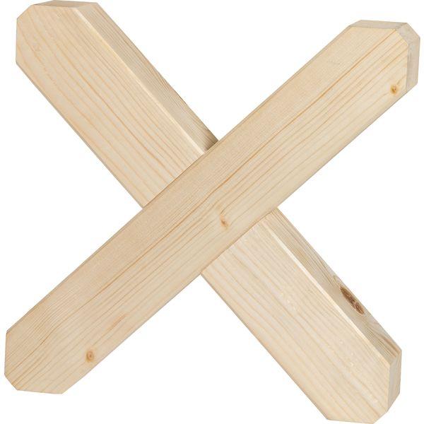 Loesdau Cavaletti Kreuz natur   37 cm x 37 cm