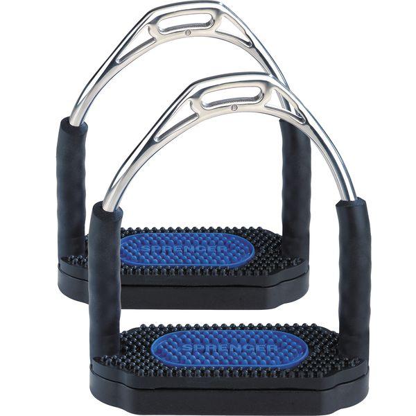 SPRENGER Steigbügel Bow Balance schwarz/blau   12 cm