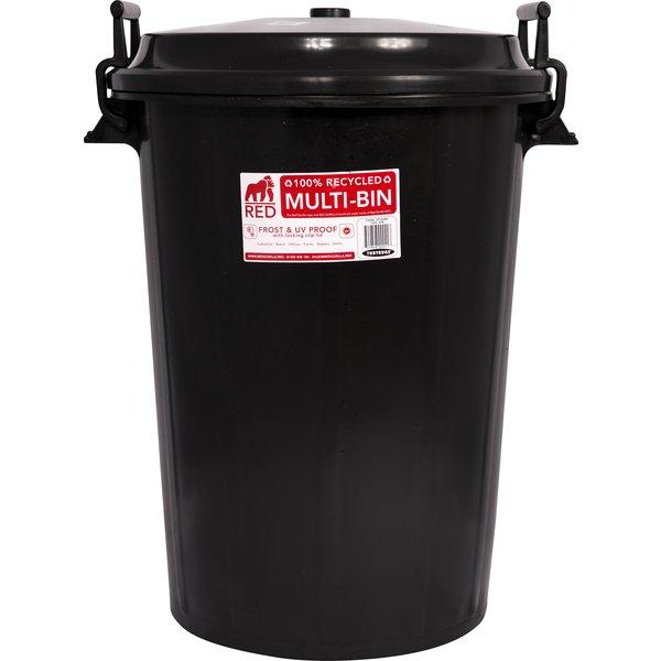 Futtertonne Multi Bin schwarz | 100 Liter