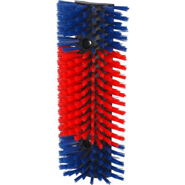 KERBL Halbrunde Kratzbürste blau/rot | normal