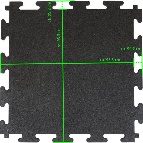 Loesdau Stallmatte schwarz | 2,0 cm