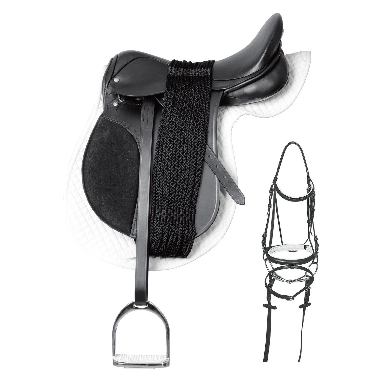 Komplett-VS-Sattel-Set inklusive Trense für Ponys