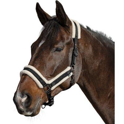 Horse-friends Halfter mit Glitzersteinchen und Kordelbiese