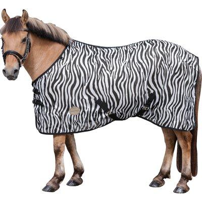 Horse-friends Fliegendecke mit Zebra-Muster